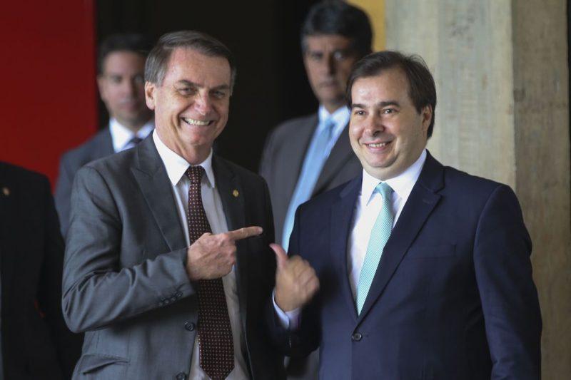 Presidente Jair Bolsonaro e presidente da Câmara dos Deputados, Rodrigo Maia fizeram uma reunião na noite desta terça – Foto: Antonio Cruz/ Agência Brasil/ND