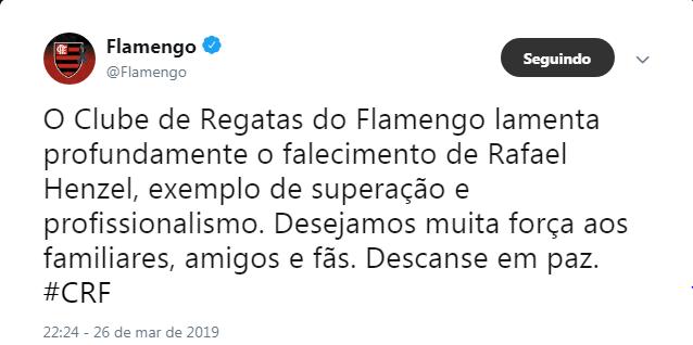 Flamengo - Reprodução/ND