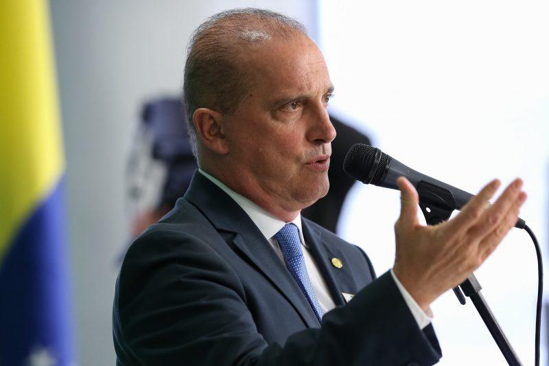 Coletiva de Imprensa do Ministro-Chefe da Casa Civil, Onyx Lorenzoni. – Marcos Corrêa/PR/ND
