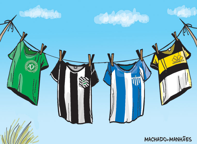 Charge sobre a semifinal do Campeonato Catarinense