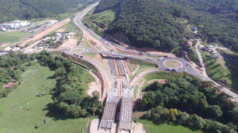 Contorno viário da Grande Florianópolis deveria ter sido entregue em 2012. Foto: Divulgação/Arteris/ND