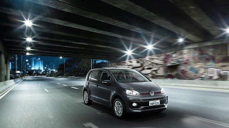 Volkswagen up: 29 psi nos pneus dianteiros e 26 psi nos traseiros - Foto: Divulgação - Foto: Divulgação/Garagem 360/ND