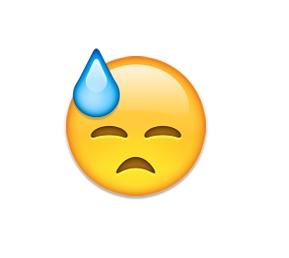 Mais um emoji utilizado para representar alguém triste, esta carinha na realidade significa uma espécie de mal-estar, como na expressão