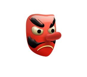 Este aqui também faz parte da cultura oriental, representando um duende japonês. - Crédito: Reprodução/Emojipedia/33Giga/ND