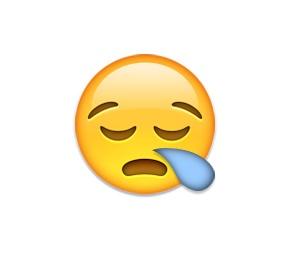 Geralmente utilizado para representar tristeza, na verdade este emoji expressa cansaço, como se a pessoa estivesse fatigada. - Crédito: Reprodução/Emojipedia/33Giga/ND