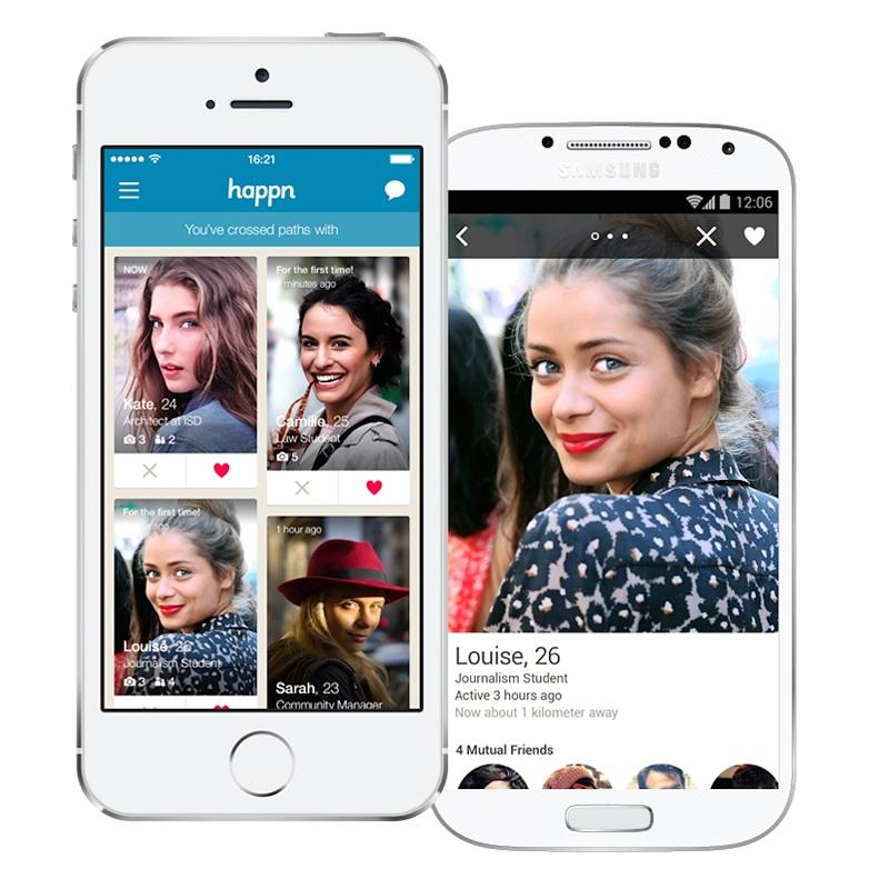 Conheça apps que vão além do Tinder: happn – O aplicativo segue um sistema semelhante ao do Tinder na hora de escolher se alguém é atraente ou não. Seu diferencial é que o Happn usa a geolocalização para dar sugestões de match. Na prática, o usuário se conecta com sua conta do Facebook e sempre que ele cruzar com uma pessoa na vida real que possui o app, ela aparecerá imediatamente na tela. Dá para determinar preferências, como gênero e idade. Está disponível para Android (https://goo.gl/yj8mw7) e iOS (https://goo.gl/7zYatk). - Crédito: Divulgação/33Giga/ND