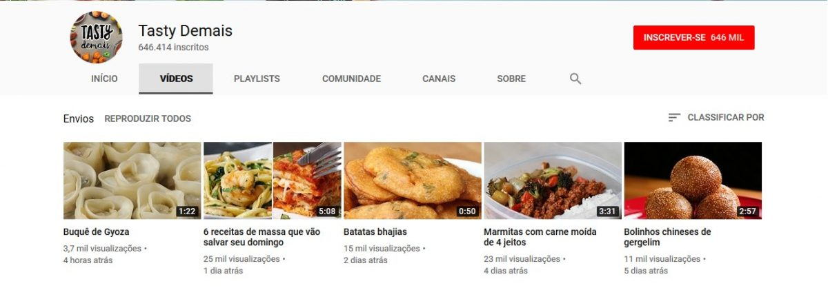 10. Tasty Demais (http://bit.ly/2DyA5tZ) - Crédito: Reprodução YouTube/33Giga/ND