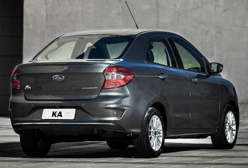 10- Ford Ka Sedan SE 1.0: 13,4 km/l / 15,5 km/l (cidade/estrada - com gasolina) e 9,2 km/l / 10,7 km/l (cidade/estrada - com etanol) - Foto: Divulgação - Foto: Divulgação/Garagem 360/ND