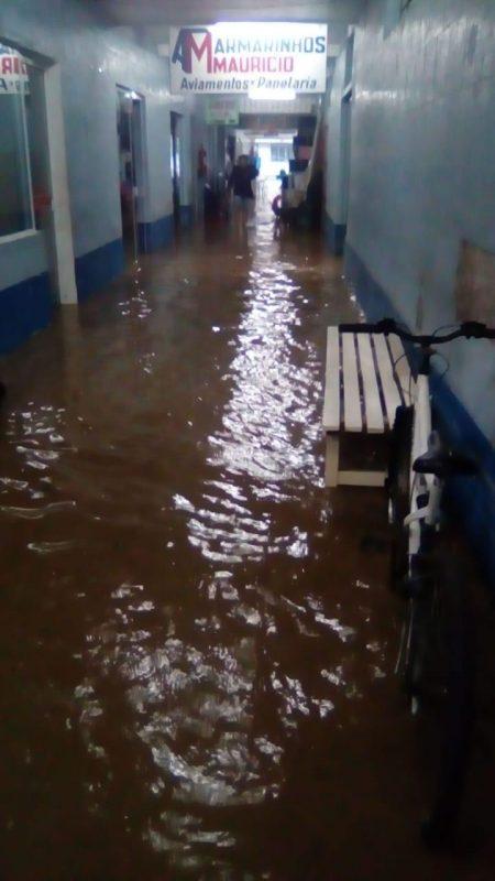 Mercado Público de Imaruí ficou alagado – Arquivo Pessoal