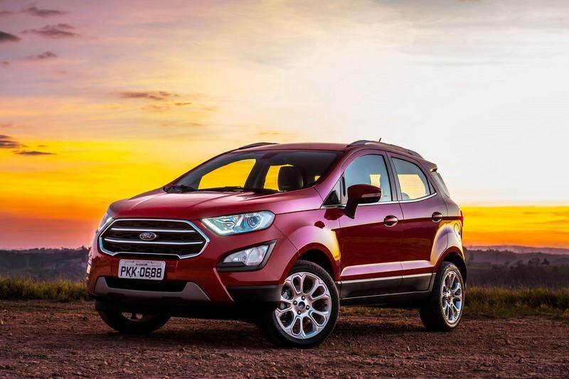Ford Ecosport: 30 psi para até três pessoas e 35 psi para carga total - Foto: Divulgação - Foto: Divulgação/Garagem 360/ND