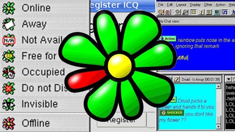1996 – Lançamento do programa de comunicação instantânea ICQ. - Crédito: VisualHunt/33Giga/ND