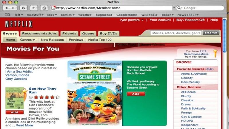 1998 – Reed Hastings e Marc Randolph lançam o primeiro site de vendas e aluguel de DVDs, a Netflix. - Crédito: your pal ryan/33Giga/ND