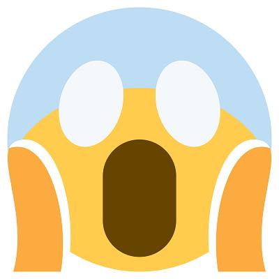 """O emoji de uma pessoa gritando com expressão de horror e mãos nas bochechas foi inspirado no famoso quadro do pintor norueguês Edvard Munch, """"O Grito"""". - Crédito: Reprodução Internet/33Giga/ND"""
