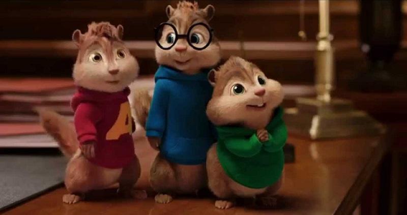Confira as músicas em inglês que fizeram sucesso com Alvin e os Esquilos: https://spoti.fi/2Q2lwDB. - Crédito: Reprodução YouTube/33Giga/ND