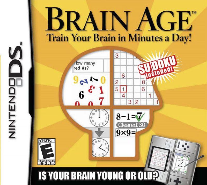 20. Brain Age: Train Your Brain in Minutes a Day (2006) – 20 milhões de cópias - Crédito: Divulgação/33Giga/ND