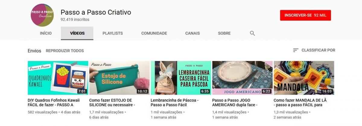 20. Passo a Passo Criativo (www.youtube.com/amandansaldo) - Crédito: Reprodução YouTube/33Giga/ND