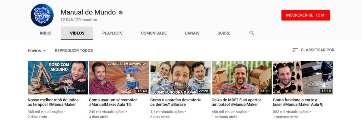 30 canais do YouTube para aprender novas habilidades e adquirir conhecimentos -- 1. Manual do Mundo (www.youtube.com/iberethenorio) - Crédito: Reprodução YouTube/33Giga/ND