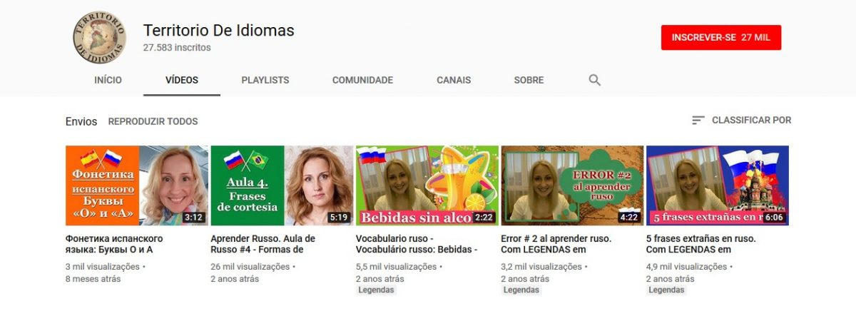 9. Territorio De Idiomas (http://bit.ly/2XZDWYV) - Crédito: Reprodução YouTube/33Giga/ND