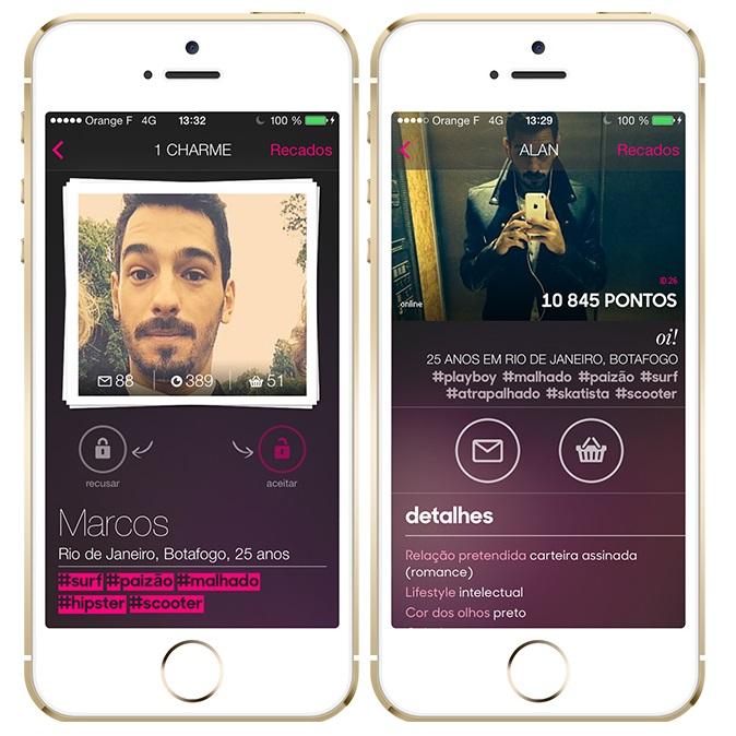 AdoteUmCara – É um aplicativo de paquera com um propósito diferente: as mulheres estão no comando. Na prática, elas veem as opções disponíveis e decidem com quem quer conversar. As garotas podem achar seus pares pela localização, por uma busca detalhada ou por hashtags, como #barbudo, #pagadegatinho e #boêmio. Disponível para Android (https://goo.gl/VzLgAX) e iOS (https://goo.gl/gfVhnY), o app é gratuito para as meninas, mas possui funcionalidades pagas para os garotos. - Crédito: Divulgação/33Giga/ND