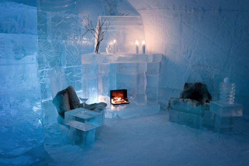 A cidade de Alta, na Noruega, também tem um hotel de gelo. No Sorrisniva Igloo Hotel, paredes, mesas, camas e até copos são feitos com água congelada e neve - Reprodução/Visitnorway - Reprodução/Visitnorway/Rota de Férias/ND