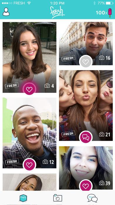 Fresh – Este é um aplicativo criado pelo Match Group, a mesma empresa do Tinder. Embora também tenha o objetivo de unir casais como seu irmão mais velho, o software se espelha em dois concorrentes: happn e Snapchat. Sua proposta é que o usuário tire uma selfie por dia. Caso não renove a foto em 24 horas, seu perfil é jogado para o fim da fila de pretendes. Está disponível para Android (https://goo.gl/ypo3AE) e iOS (https://goo.gl/tNE4oX). - Crédito: Divulgação/33Giga/ND