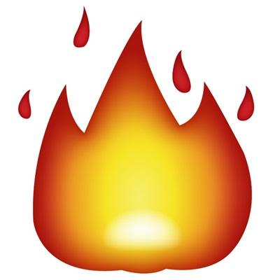 A pequena chama amarela e alaranjada pode ser usada para descrever algo ou alguém quente. - Crédito: reprodução da internet/33Giga/ND
