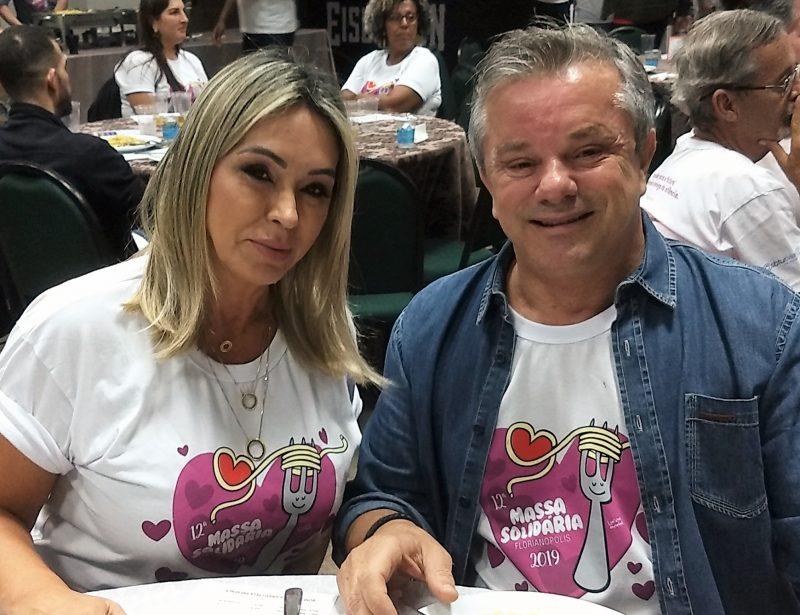 Jaice Duarte e Paulo Silveira Santos, proprietário da Lumis Construtora – Marcos Cardoso/ND
