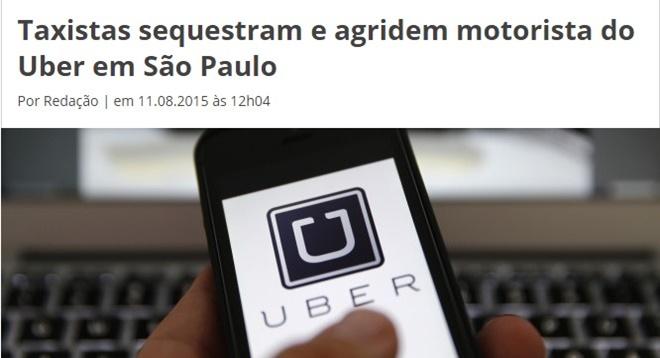 Confira histórias bizarras envolvendo o Uber! - Crédito: reprodução da internet /33Giga/ND