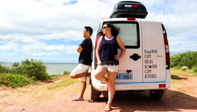 Casal transforma Fiat Doblò em motorhome para viajar pela América do Sul - Foto: Divulgação