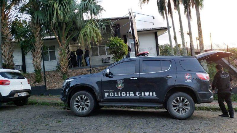 11 pessoas foram indiciadas e até a manhã desta terça-feira (9) 4 foram presas em Luiz Alves e Região- Foto: Polícia Civil/Divulgação