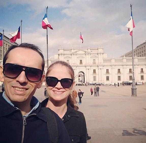 Jonathas Nascimento Kruger e Adriane Kruger em registro feito durante a viagem ao Chile – Reprodução/Instagram
