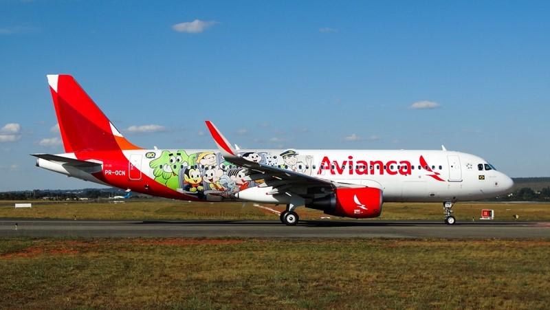A Avianca Brasil pintou este Airbus A320 com os personagens da Turma da Mônica - Foto: Gustavo H. Braga on VisualHunt / CC BY-NC-SA - Foto: Gustavo H. Braga on VisualHunt / CC BY-NC-SA /Garagem 360/ND