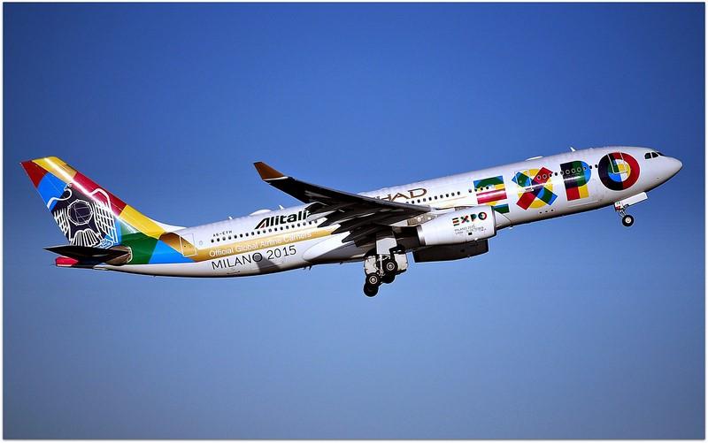 Airbus A330 com pintura especial para a Expo Milão de 2015 - Foto: Riik@mctr on Visual Hunt / CC BY-SA - Foto: Riik@mctr on Visual Hunt / CC BY-SA/Garagem 360/ND