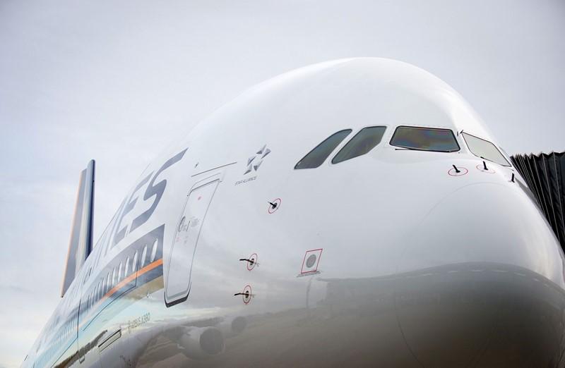 Airbus A380: o superjumbo ainda é o maior avião de passageiros do mundo, podendo levar até 544 pessoas. Sua construção utiliza camadas alternadas de liga de alumínio e fibra de vidro, para reduzir o peso e aumentar a autonomia - Foto: Divulgação - Foto: Divulgação /Garagem 360/ND