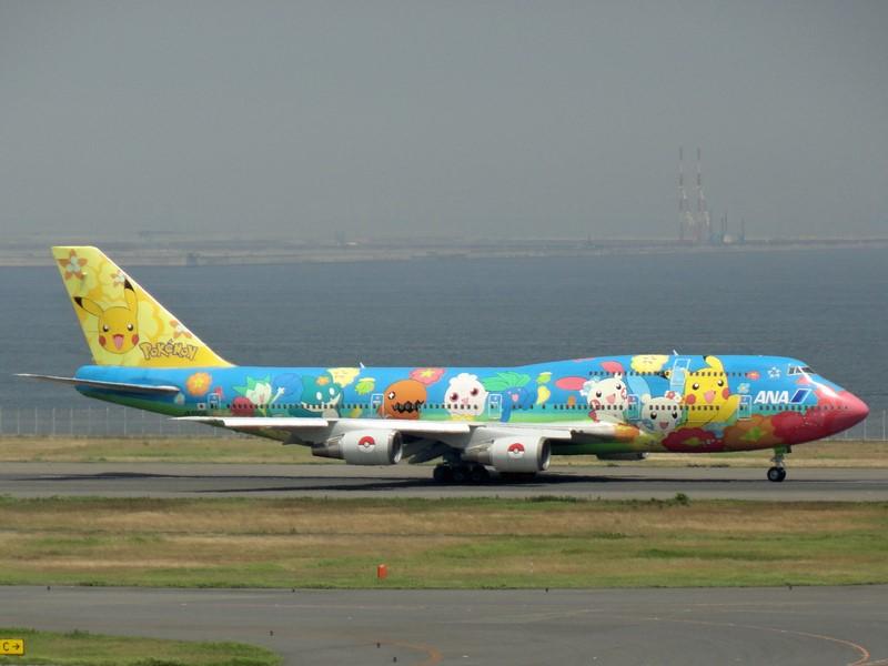 Alguns Boeing 747 da ANA também foram pintados com os personagens do jogo/anime Pokémon - Foto: Photo credit: Luke Lai on VisualHunt / CC BY-NC - Foto: Photo credit: Luke Lai on VisualHunt / CC BY-NC/Garagem 360/ND