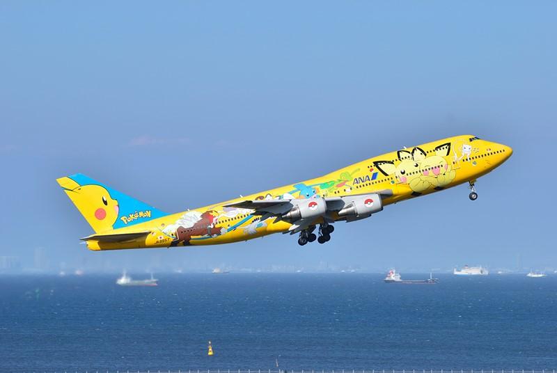 Alguns Boeing 747 da ANA também foram pintados com os personagens do jogo/anime Pokémon - Foto: ykanazawa1999 on VisualHunt.com / CC BY-NC-SA - Foto: ykanazawa1999 on VisualHunt.com / CC BY-NC-SA /Garagem 360/ND
