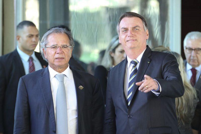 O presidente Jair Bolsonaro e o ministro da Economia, Paulo Guedes – Foto: Fabio Rodrigues Pozzebom/Agência Brasil/ND