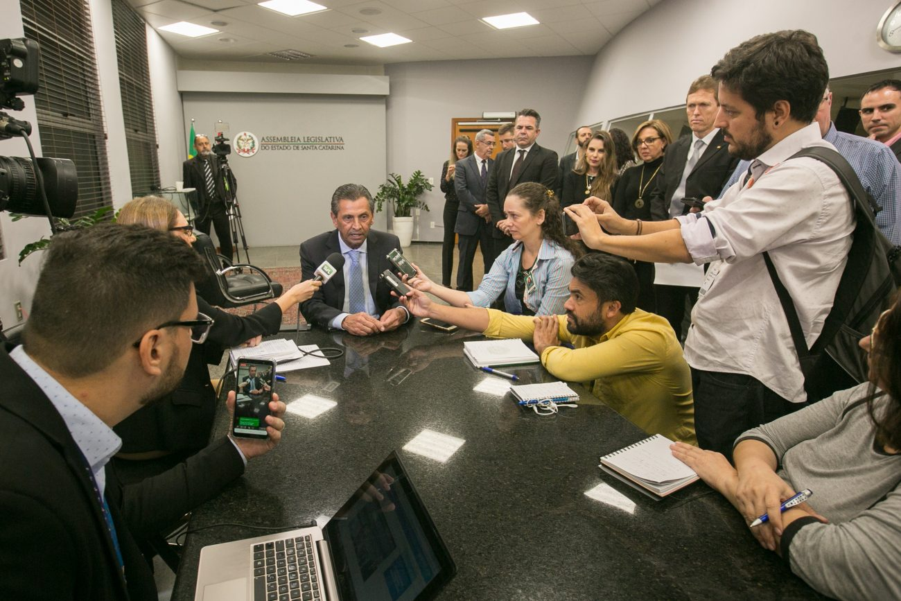 Julio Garcia concede entrevista após aprovação da reforma administrativa - Rodolfo Espínola/Agência AL/ND