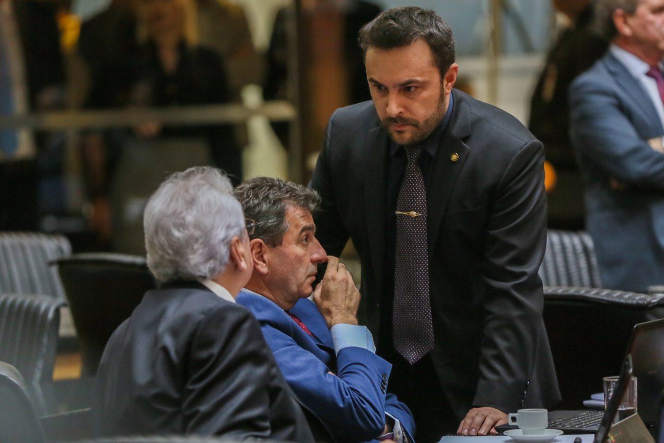 Moacir Sopelsa, Valdir Cobalchini e Marcius Machado - Fábio Queiroz/Agência AL/ND