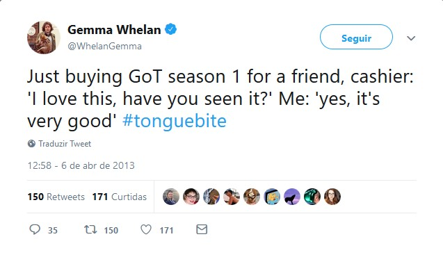 Gemma Whelan – Yara Greyjoy - Crédito: Reprodução/Twitter/33Giga/ND