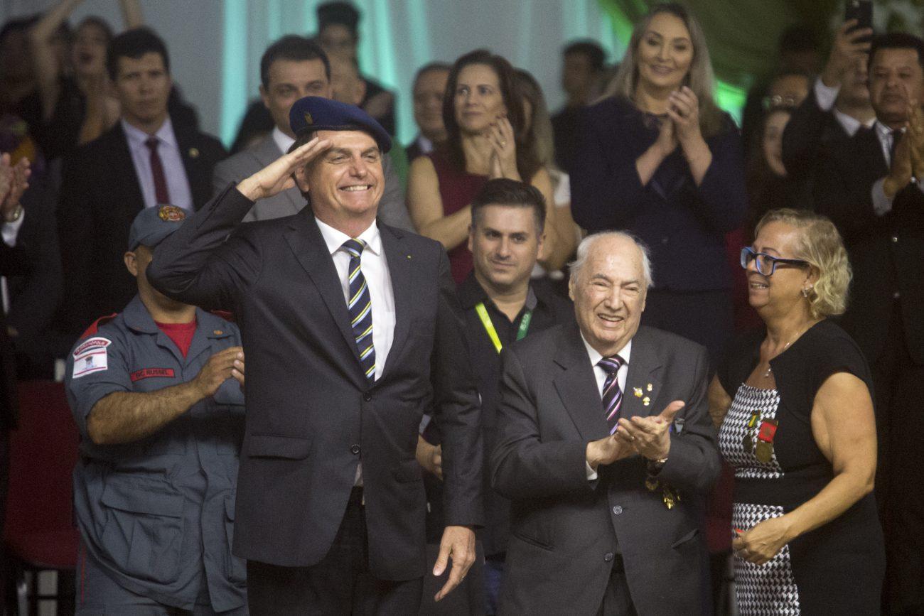 Bolsonaro presta homenagem a ex-combatente da 2ª Guerra Mundial - Flavio Tin/ND