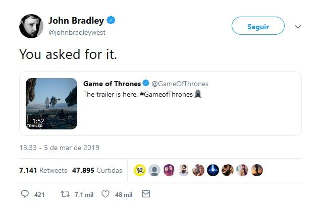 John Bradley-West – Samwell Tarly - Crédito: Reprodução/Twitter/33Giga/ND