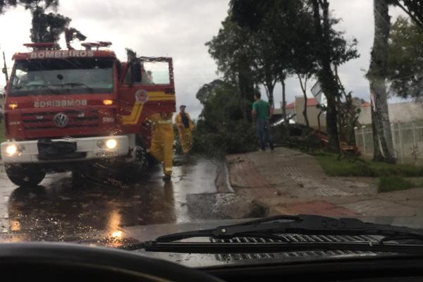 Tempestade causa transtorno no Oeste de Santa Catarina - Reprodução NDMais