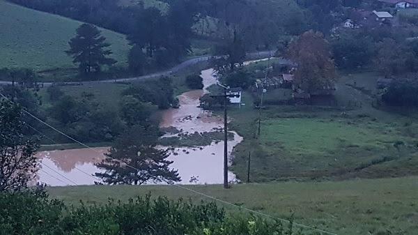 Trombudo Central, no Vale do Itajaí, também está embaixo d'água - Divulgação