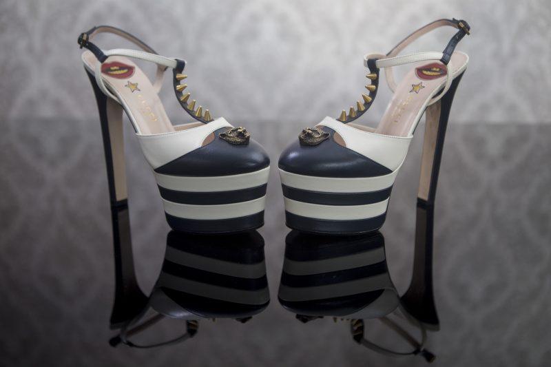 Sapatos são aceitos caso estejam em perfeito estado ou novos. Modelo Gucci Angel – Flavio Tin/ND