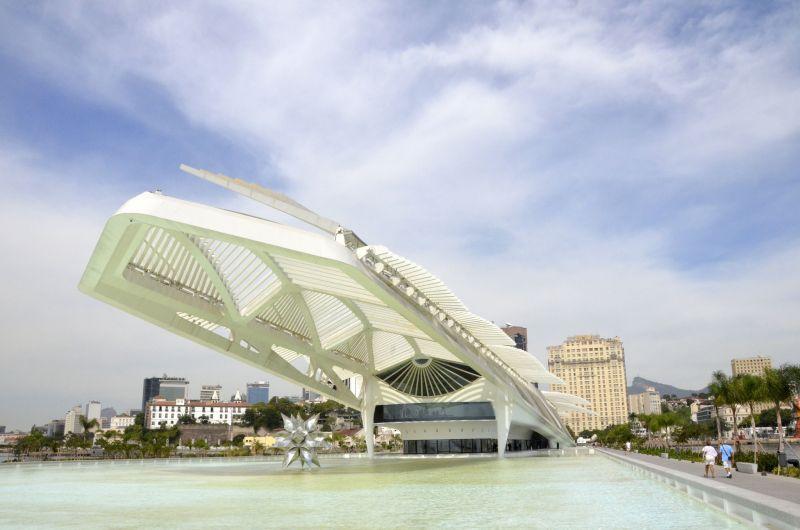 Inaugurado em 2015, o moderno Museu do Amanhã foi projetado pelo arquiteto espanhol Santiago Calatrava - Alexandre Macieira/Riotur - Alexandre Macieira/Riotur/Rota de Férias/ND