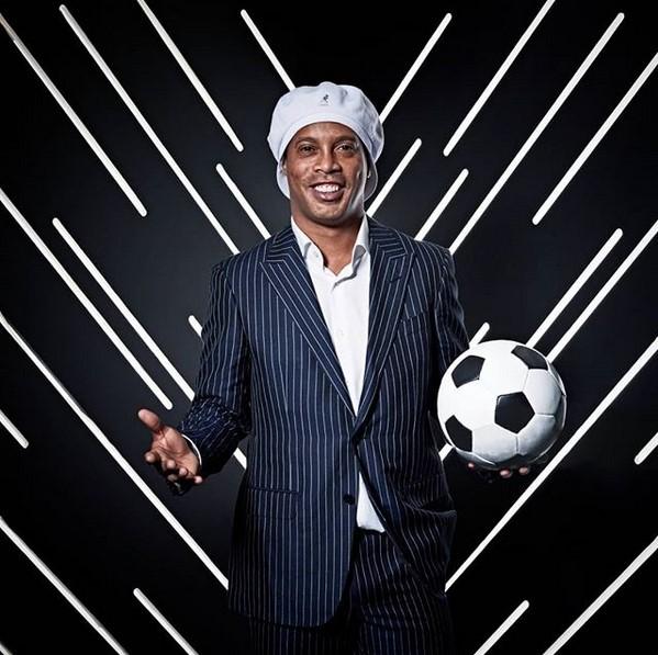 2. Ronaldinho Gaúcho (www.instagram.com/ronaldinho) – 46 milhões de seguidores - Crédito: Reprodução Instagram/33Giga/ND