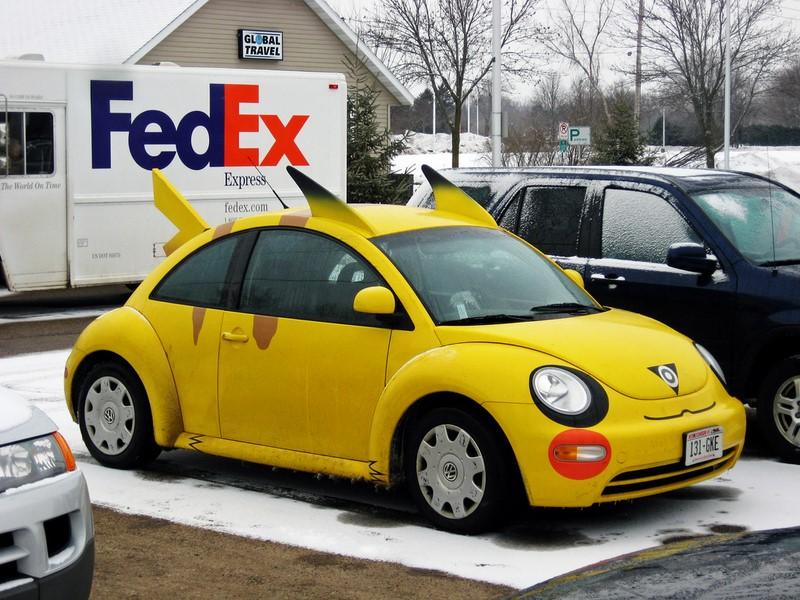 O Volkswagen New Beetle também entrou na onda do desenho japonês - Foto: ratterrell via Visual hunt / CC BY-NC-ND - Foto: ratterrell via Visual hunt / CC BY-NC-ND /Garagem 360/ND