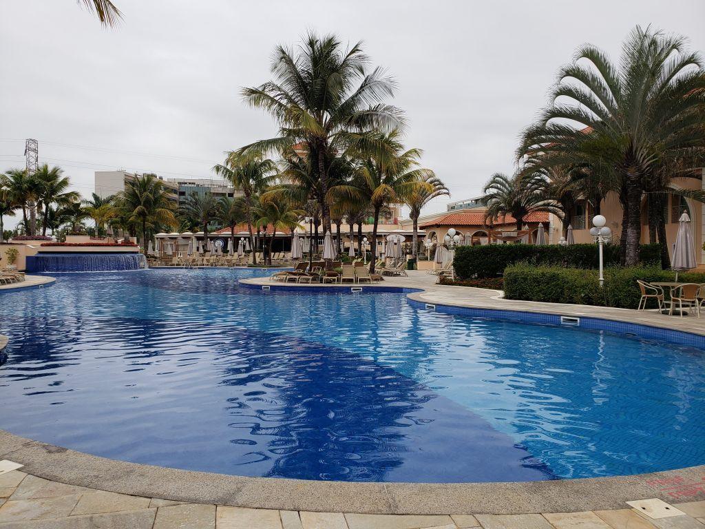 No total, são sete piscinas climatizadas, com direito a jatos d'água, toboágua e até jacuzzi ao ar livre - Maria Beatriz Vaccari - Maria Beatriz Vaccari/Rota de Férias/ND