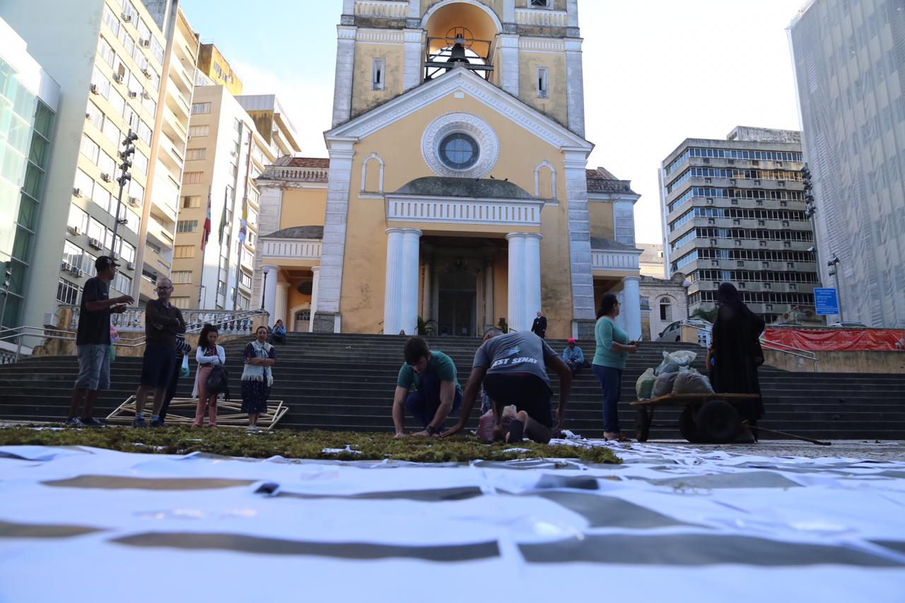As ruas no entorno da Praça 15 de Novembro foram fechadas - Anderson Coelho/ND